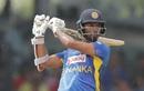 Dimuth Karunaratne goes through the off side, Sri Lanka v West Indies, 1st ODI, Colombo (SSC), February 22, 2020
