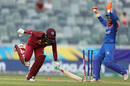 Deandra Dottin fell short to a sharp throw, Thailand v West Indies, T20 World Cup, Group B, Perth, February 22, 2020