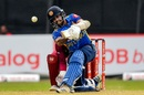 Kusal Mendis powers one down the ground, Sri Lanka v West Indies, 1st ODI, Colombo, February 22, 2020