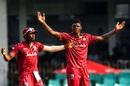 Alzarri Joseph appeals for a wicket, Sri Lanka v West Indies, 1st ODI, Colombo, February 22, 2020