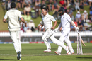 Trent Boult goes on a celebratory run after bowling Cheteshwar Pujara, New Zealand v India, 1st Test, Wellington, 3rd day, February 23, 2020