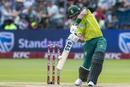 Reeza Hendricks flays one through the off side, South Africa v Australia, 2nd T20I, Port Elizabeth, February 23, 2020