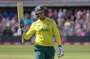 Rassie van der Dussen made a useful 37 from 26, South Africa v Australia, 2nd T20I, Port Elizabeth, February 23, 2020
