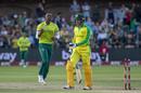 Lungi Ngidi celebrates the dismissal of Alex Carey, South Africa v Australia, 2nd T20I, Port Elizabeth, February 23, 2020