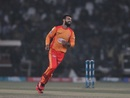 Shadab Khan celebrates, Lahore Qalandars v Islamabad United, Pakistan Super League, Lahore, February 23, 2020