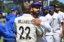 Virat Kohli congratulates Kane Williamson, New Zealand v India, 1st Test, Wellington, 4th day, February 24, 2020