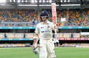 Seb Gotch walks off after his second Shield hundred, Victoria v Queensland, Sheffield Shield, Gabba, February 24, 2020