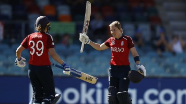 Heather Knight struck her maiden T20I century, completing the feat of scoring a century in each international format