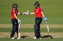 Heather Knight and Natalie Sciver shared an unbroken stand of 169 for the third wicket, England v Thailand, Women's T20 World Cup, Canberra, February 26, 2020