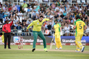 Tabraiz Shamsi celebrates, South Africa v Australia, 3rd T20I, Port Elizabeth, February 26, 2020