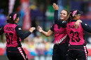 Amelia Kerr got the important wicket of Shafali Verma, India v New Zealand, Group A, T20 World Cup, Junction Oval, February 27, 2020