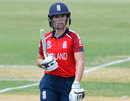 Lauren Winfield walks off after being dismissed, England v Sri Lanka, T20 World Cup warm-up match, Karen Rolton Oval, February 18, 2020
