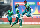 Fahima Khatun enjoys a wicket, New Zealand v Bangladesh, Group A, ICC Women's World T20, Melbourne, February 29, 2020