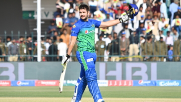 Rilee Rossouw celebrates his quickfire century