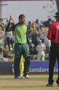 Heinrich Klaasen celebrates his maiden hundred, South Africa v Australia, 1st ODI, Paarl, February 29, 2020