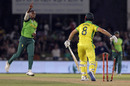 Mitchell Marsh had his off stump pegged back by Lungi Ngidi, South Africa v Australia, 1st ODI, Paarl, February 29, 2020
