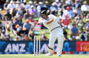 Kyle Jamieson scythes one through the covers, New Zealand v India, 2nd Test, Christchurch, 2nd day, March 1, 2020