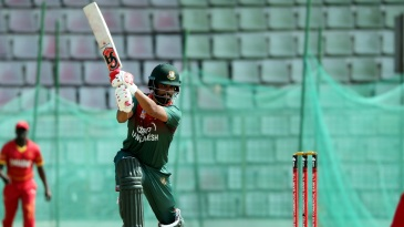 Tamim Iqbal crunches one through covers