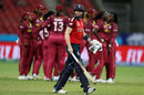 Heather Knight leaves the field after being run out, England v West Indies, Group B, Women's T20 World Cup, Sydney, March 1, 2020
