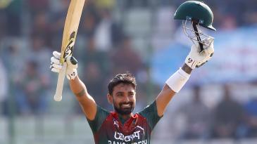 Liton Das celebrates his century