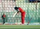 Tinashe Kamunhukamwe plays on to one, Bangladesh v Zimbabwe, 1st ODI, Sylhet, March 1, 2020