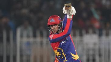 Alex Hales' rapid half-century set up the chase for Karachi Kings