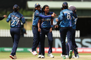 Achini Kulasuriya is congratulated by her team-mates, Bangladesh v Sri Lanka, Women's T20 World Cup, Group A, Melbourne, March 2, 2020