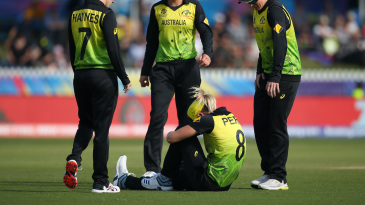 Ellyse Perry suffered a hamstring injury in the field