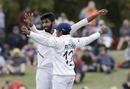 Jasprit Bumrah celebrates a final-day strike, New Zealand v India, 2nd Test, Christchurch, 3rd day, March 2, 2020