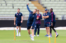 Olly Stone bowls in England's training session, Edgbaston, July 31, 2019