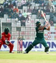 Mahmudullah cuts one away, Bangladesh v Zimbabwe, 2nd ODI, Sylhet, March 3, 2020