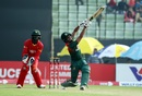 Mohammad Mithun lofts one down the ground, Bangladesh v Zimbabwe, 2nd ODI, Sylhet, March 3, 2020