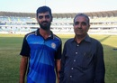 Arpit Vasavada with his father Vyomeshbhai Vasavada, Saurashtra v Gujarat, Ranji Trophy, semi-final, day four, Rajkot, March 3, 2020