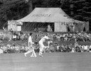 Hugh Tayfield sends one down, Duke of Norfolk's XI v South Africans, Arundel Castle Cricket Club ground, England, April 30, 1960