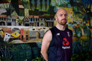 Jack Leach poses in front of a mural in Sri Lanka, March 4, 2020