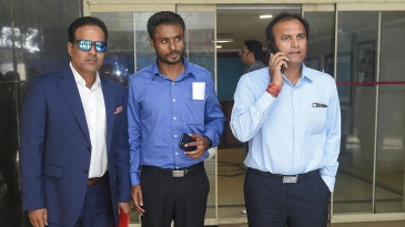 Sunil Joshi, Harvinder Singh and Rajesh Chauhan at the BCCI headquarters