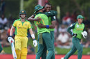 Lungi Ngidi claimed the key wicket of Steven Smith, Australia v South Africa, 2nd ODI, Bloemfontein, March 4, 2020