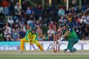 Janneman Malan drives through the covers, Australia v South Africa, 2nd ODI, Bloemfontein, March 4, 2020