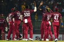 Kieron Pollard wore a special jersey during his 500th T20, Sri Lanka v West Indies, 1st T20I, Pallekele, March 4, 2020