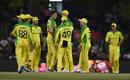 Australia celebrate Pat Cummins' breakthrough, Australia v South Africa, 2nd ODI, Bloemfontein, March 4, 2020