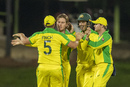 Australia celebrate Adam Zampa's breakthrough, Australia v South Africa, 2nd ODI, Bloemfontein, March 4, 2020