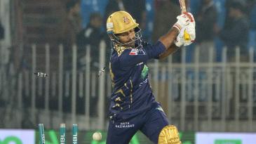 Sarfaraz Ahmed missed a slower ball from Wahab Riaz