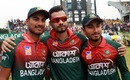 Mashrafe Mortaza with the two debutants, Mohammad Naim and Afif Hossain, Bangladesh v Zimbabwe, 3rd ODI, Sylhet, March 6, 2020