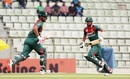 Liton Das and Tamim Iqbal pinch a run, Bangladesh v Zimbabwe, 3rd ODI, Sylhet, March 6, 2020
