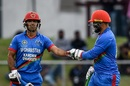 Najibullah Zadran and Samiullah Shinwari get together, Afghanistan v Ireland, 1st ODI, Greater Noida, March 6, 2020