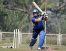 Sachin Tendulkar nets up for the Road Safety tournament, Mumbai, March 7, 2020