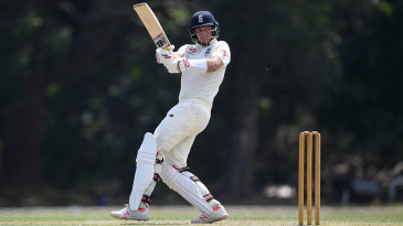 Joe Root pulls during his half-century