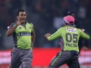 Samit Patel celebrates, Lahore Qalandars v Quetta Gladiators, Pakistan Super League, Lahore, March 7, 2020