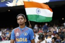 Harmanpreet Kaur walks out for the toss, Australia v India, Women's T20 World Cup, final, Melbourne, March 8, 2020