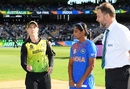 Meg Lanning flips the coin at the toss, Australia v India, Women's T20 World Cup, final, Melbourne, March 8, 2020